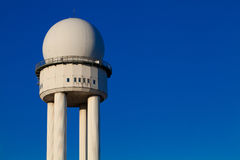 Radar tower for air traffic control Royalty Free Stock Photos