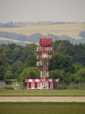 Radar tower in airport Royalty Free Stock Photo