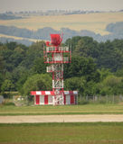 Radar tower in airport Royalty Free Stock Images