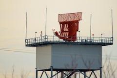 Radar Tower. Airport surveillance radar, also known as ASR, near Cleveland Hopkins International Airport royalty free stock photo