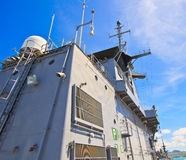Radar tower on battleship Royalty Free Stock Photo