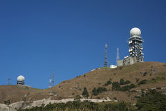 Radar towers Royalty Free Stock Images