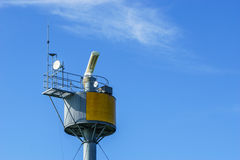 Radar transmitter tower Stock Photo