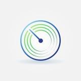Radar vector bright icon Stock Photo