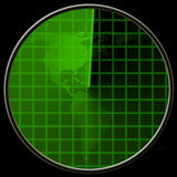 Radar verde Imagens de Stock