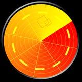 Radar verde ilustração royalty free