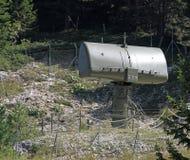 Radar verde militar para el reconocimiento de los aviones enemigos Imágenes de archivo libres de regalías
