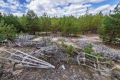 Radar w Chernobyl strefie Zdjęcie Royalty Free