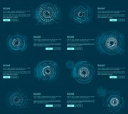 Radar Webpages Collection Vector Illustration Stock Images