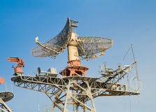Radar y sistema de comunicación fotos de archivo