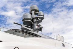 Radar on a yacht Stock Photography