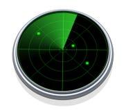 Radarbildläsning Arkivfoto