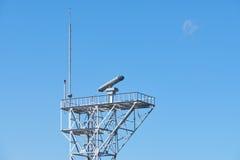 Radargerät auf einem Turm Lizenzfreies Stockbild