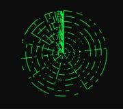 Radarillustratie Royalty-vrije Stock Afbeeldingen