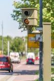 Radarkontrolle im Stadtgebiet lizenzfreie stockbilder