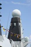 Radarkontrollturm, HMS Trauen Stockbild