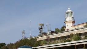 Radarmaträtten på taket stock video