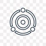 Radarowa wektorowa ikona odizolowywająca na przejrzystym tle, liniowy Rad royalty ilustracja