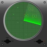 Radarowa wektorowa ilustracja Fotografia Royalty Free