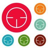 Radarowego detektor ikon okręgu ustalony wektor Zdjęcia Stock