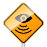 radarowy drogowy znak Fotografia Royalty Free