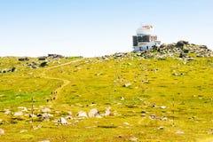 Radarowy systemu Ð ¡ herni Vrah na Vitosha górze Zdjęcie Royalty Free