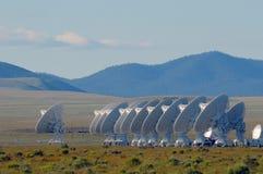 Radars dans le désert photo libre de droits