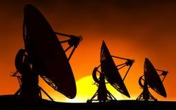 Radars et soleil Images libres de droits