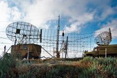 Radars on military base Stock Photos
