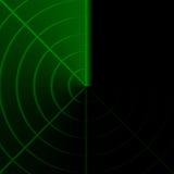 radarskärm Arkivfoto