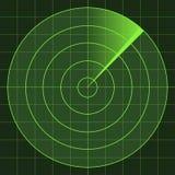 radarskärm royaltyfri illustrationer