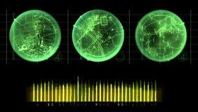 Radarskärmskärm royaltyfri illustrationer