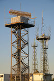 Radarstation Airport Apron Radar Royalty Free Stock Images