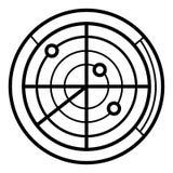 Radarsymbolsvektor royaltyfri illustrationer