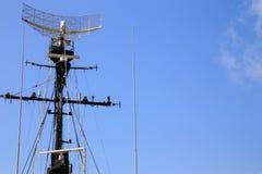 Radartornkrigsskepp Royaltyfri Foto