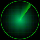 Radarvertoning Royalty-vrije Stock Afbeelding