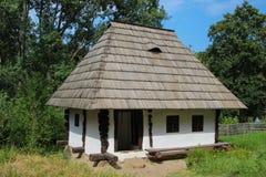 Radaseni家庭-苏恰瓦村庄博物馆 免版税图库摄影