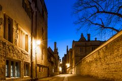 Radcliff camera in Oxford in starry night, United Kingdom. Radcliff camera in Oxford in starry spring night, United Kingdom royalty free stock photos