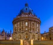 Radcliffcamera in Oxford in sterrige nacht, het Verenigd Koninkrijk stock foto's