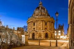 Radcliffcamera in Oxford in sterrige nacht, het Verenigd Koninkrijk royalty-vrije stock foto's