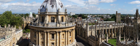 Radcliffe camera and All Souls College Oxford. Overview of radcliffe camera and All Souls College from St. Mary the Virgin church in Oxford, England Stock Photo