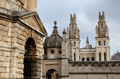 Radcliffe Camera and All Souls College. Oxford, UK Royalty Free Stock Photo