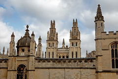 Radcliffe Camera All Souls College. Radcliffe Camera and All Souls College, Oxford, UK Stock Photos