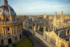 Radcliffe Camera and All Souls College. Oxford University, Oxford, UK Royalty Free Stock Images