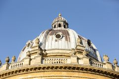 Radcliffe camera is a building of Oxford University, England, designed by James Gibbs in neo-classical style built in 1737–49. Radcliffe camera is a building Royalty Free Stock Photos