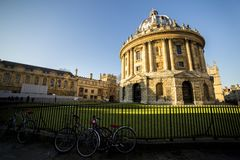 Radcliffe camera is a building of Oxford University, England, designed by James Gibbs in neo-classical style and built in 1737. –49 to house the Radcliffe Royalty Free Stock Images