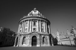 Radcliffe Camera in monochrome Royalty Free Stock Image