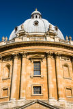 The Radcliffe Camera, Oxford. The Radcliffe Camera reading room of Oxford University's Bodleian Library against a deep blue sky royalty free stock photography