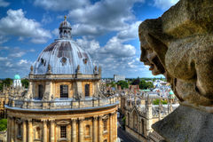 Radcliffe Camera & University Church gargoyle, Oxford Royalty Free Stock Photos
