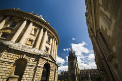 Radcliffe Camera and University Church in Oxford Royalty Free Stock Photography